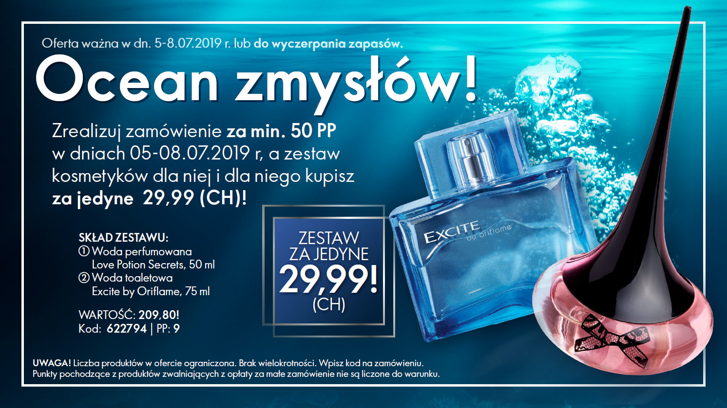 2 zapachy Oriflame