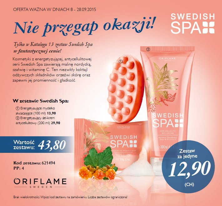 kat 13 2015 oferta Swedish Spa