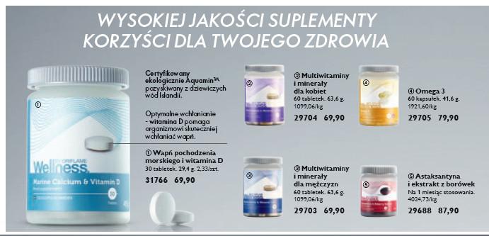 suplementy diety Oriflame
